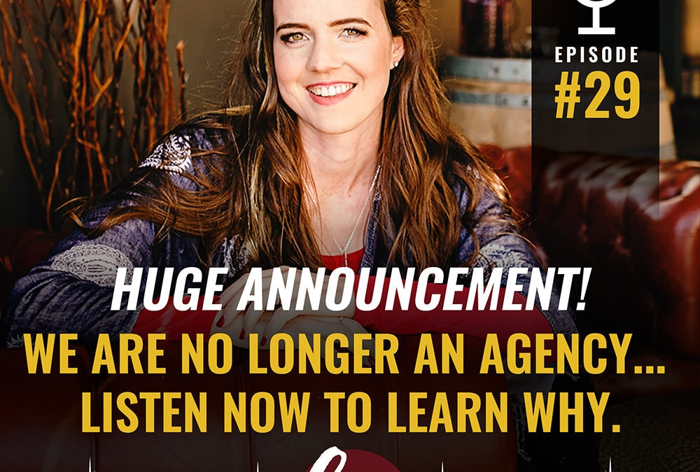 ANNOUNCEMENT: We are NO longer an agency!