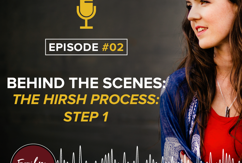 Behind The Scenes: The Hirsh Process: Step 1 – Strategize