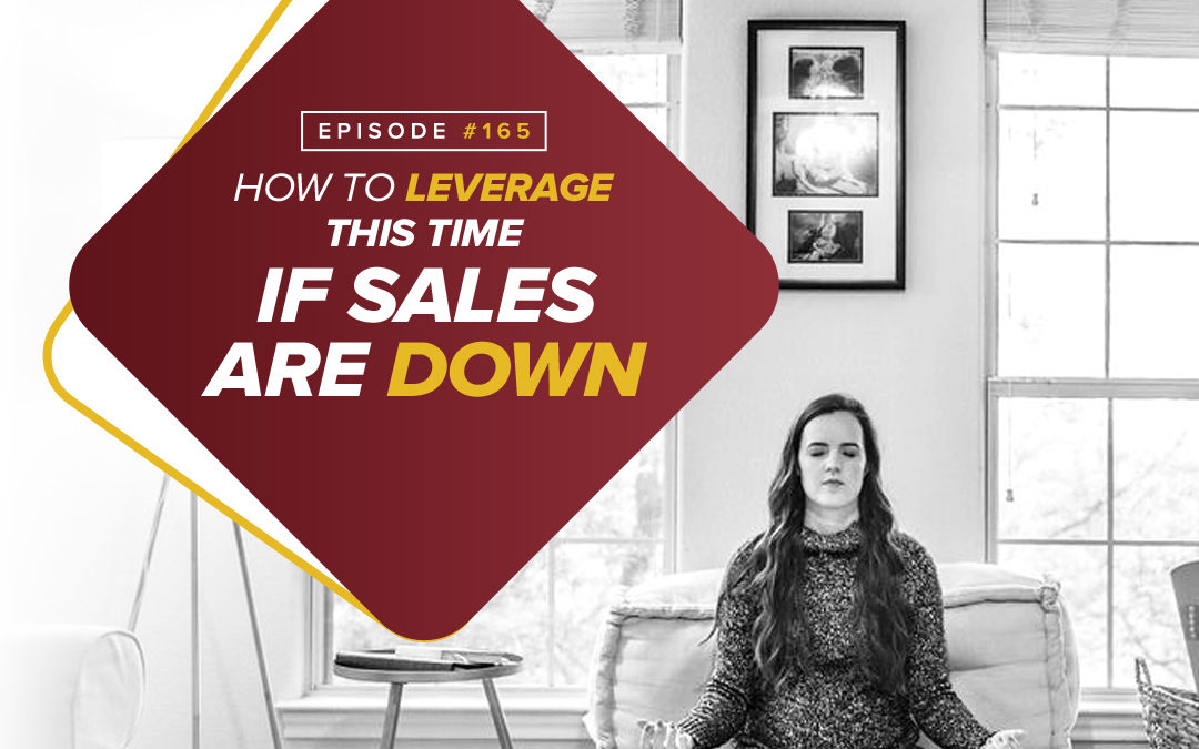 165 – Special Edition 6 – How To Leverage This Time If Sales Are Down