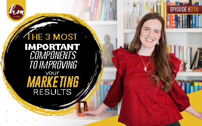 270 – The 3 Most Important Components To Improving Your Marketing Results